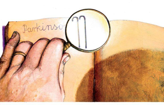 Trotz der Tatsache, Hände schütteln dass die Parkinson-Krankheit